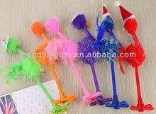 Hottest colorful ostrich plastic ballpoint pen