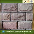 cuarcita de color rosa hongos de piedra de revestimiento de la pared
