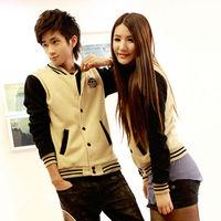 2014 Women Men Unisex Spring Autumn Fashion Korean Sweatshirts, Sport Suit Hoodies Cardigan Baseball Jacket 7347
