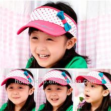 100% Cotton children sun visor cap/visor cap/sunhat with embroidery custom logo