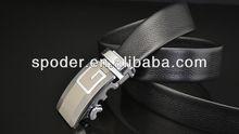 2014 COOL-Dress Mens Belt black Genuine Leather Fashion waistband belt Removable automatic buckle