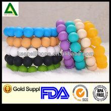 China Manufacturer Cheap Custom Silicone Beaded Bracelets Wholesale