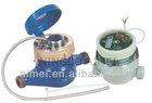 Single jet remote reading water meter