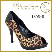 Printed Heel Leopard Sexy High Heel Ladies Dress Shoes