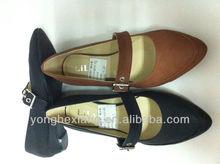 Popular women pu upper material shoes