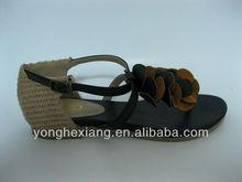 Latest design 2014 woman flat sandals