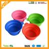 Food grade silicone travel foldable pet food bowl