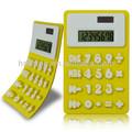 2 energia solar calculadora de borracha( amarelo)