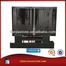 Russian shanxi black granite bible headstone