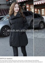 ladies wool long winter coats Simple wild new Women Korean version was thin padded cotton jacket coat big yards
