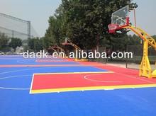 Outdoor interlocking plastic floor tiles for baseketball,football sports court
