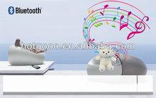 2012 cute plush stuffed bluetooth toy teddy bear doll with speaker
