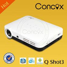 Concox QShot3 watch movies hd projector 600 brightness wifi and bluetooth mini pocket projector