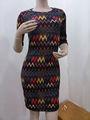 La primavera 2014/de verano nuevo estilo de vestido de manga corta vestido de fiesta elegante estilo de impresión de algodón