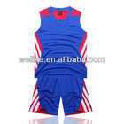 2014 new style basketball jersey blue badminton sport wear cheap plain basketball uniform wholesale
