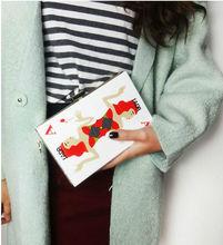 QUEEN favorite poke UK brand hard shell acrylic hand bag diagonal package Fashion Transparent Clutch