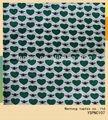 el corazón verde y negro araña voile impreso de algodón tela de la camisa