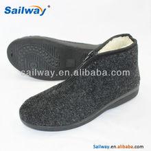 dark grey fleece upper indoor boots for men
