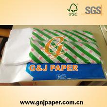 18 - 23 g a prueba de agua sándwich de envoltura de papel con 100% pulpa de madera