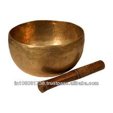 Tibetan Jewelry Handmade Buddhism White Copper Singing Bowl