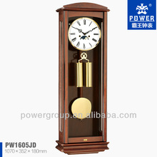 Roman Numberals dial with Moon Phase wall clocks for home decoration Solid wood case Good quality PW1605JD