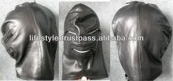 stylish latex hood latex rubber hoods transparent black latex hoodt