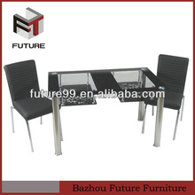 Glass and Metal tube!glass painting and stainless steel tube dining table