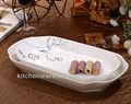 Kcpl- 588 haonai durável porcelana prato oval com impressão