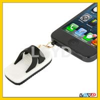 3.5mm Jack Slippers Style Creative Earphone Dust Plug for iPhone 5 / Samsung Galaxy S IV / i9500 / i9200 / etc