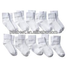 Plain white men socks
