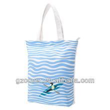 2014 cute 100% cotton straw beach bag
