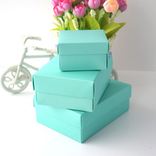 2014 New Wholesale Customized Eco-friendly Azure Paper Gift/Candy Packaging Box
