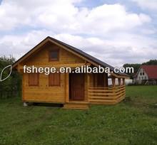 imitation wooden prefab villa