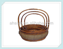 Natural wicker gift&craft basket