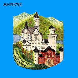 Neuschwanstein castle ceramic Tile Fridge Magnet