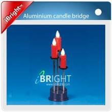 3L red Metal Christmas Candle Bridge Light
