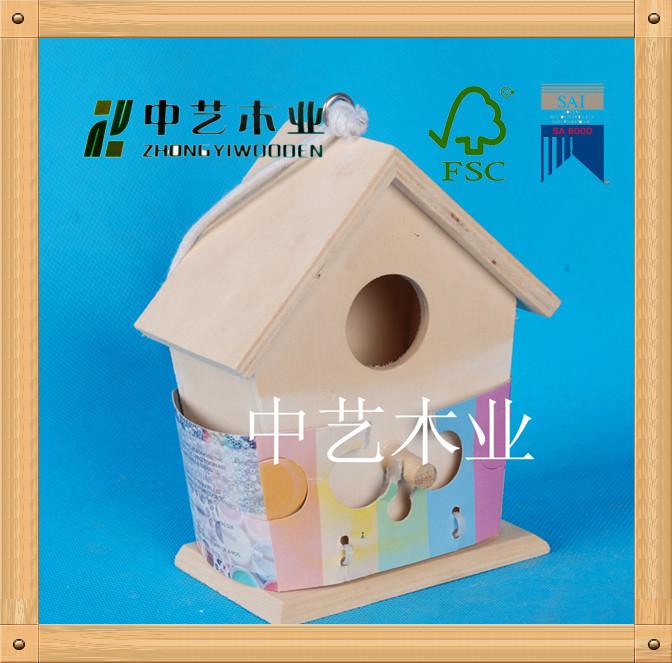 Beautiful wooden bird house /wooden pet house/wooden house