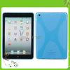 X Shape Soft Anti skidding Cover Case For iPad Mini Blue