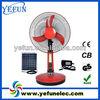 "YF-16D high power china factory 16"" 12v solar battery powered table fan"