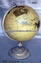 World Globe with Metal Stand, Desktop Accessories, Unique World Globes