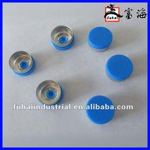 13mm antibiotic glass bottle caps/lids aluminum plastic combination caps/lids