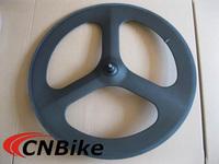 Fast shipping!!! 100% carbon 3 spoke bike wheel 700c /tri-spoke wheel