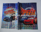 PP printed holographic book cover cartoon printing