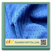 100% Polyester Mesh Football Jersey Fabric