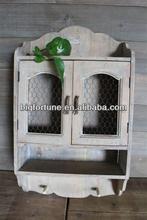 shabby chic hand made wood wall cupboard