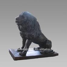 Metal Lion Sculpture Bronze Sculpture Lying Lion Home/Garden Decoration