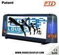 p5 3g inalámbrica de control de la pantalla de vídeo led adorno taxi ad reproductor de doble lado