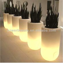 solar light with planter illuminated garden led flower pot
