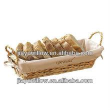 naturale di paglia vimini cestino del pane con la fodera fatte a mano