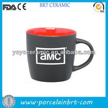 beautiful black ceramic 3 oz beer mug